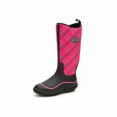 Muck Boots Company Women's HALE, BLACK/PINK PLAID, Neoprene