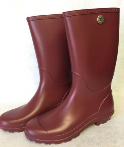 Ugg Australia Shelby Matte Rain Boots Rubber Boots Garnet Re