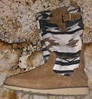 SANUK Siena Natural Navajo Tobacco Suede Twill Boots NEW Wom