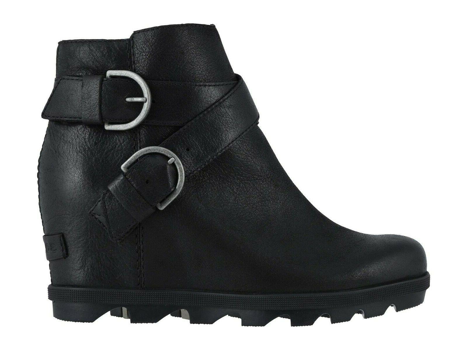 Sorel Women's Joan Arctic Wedge Leather Black 8 US