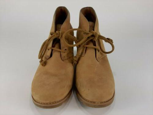 Sperry Prow Ankle Wedge Boots Beige