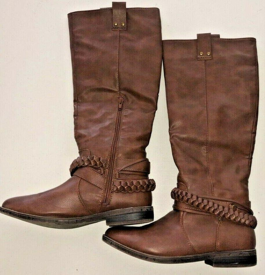 tall brown tan riding boots size 7