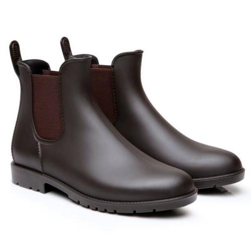 Unisex Rain Waterproof Slip On Chelsea Booties AIKE