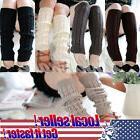 US NEW Women Ladies Winter Leg Warmers Crochet Knit Boot Soc