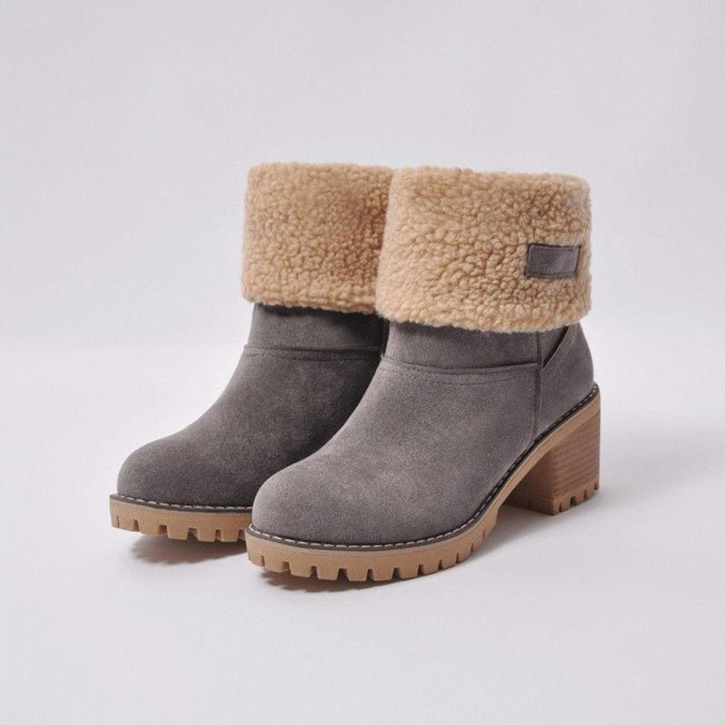 US Snow Warm Suede Ankle Boots