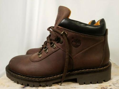 Vintage 90s NOS Timberland Brown Leather Hiking Boots