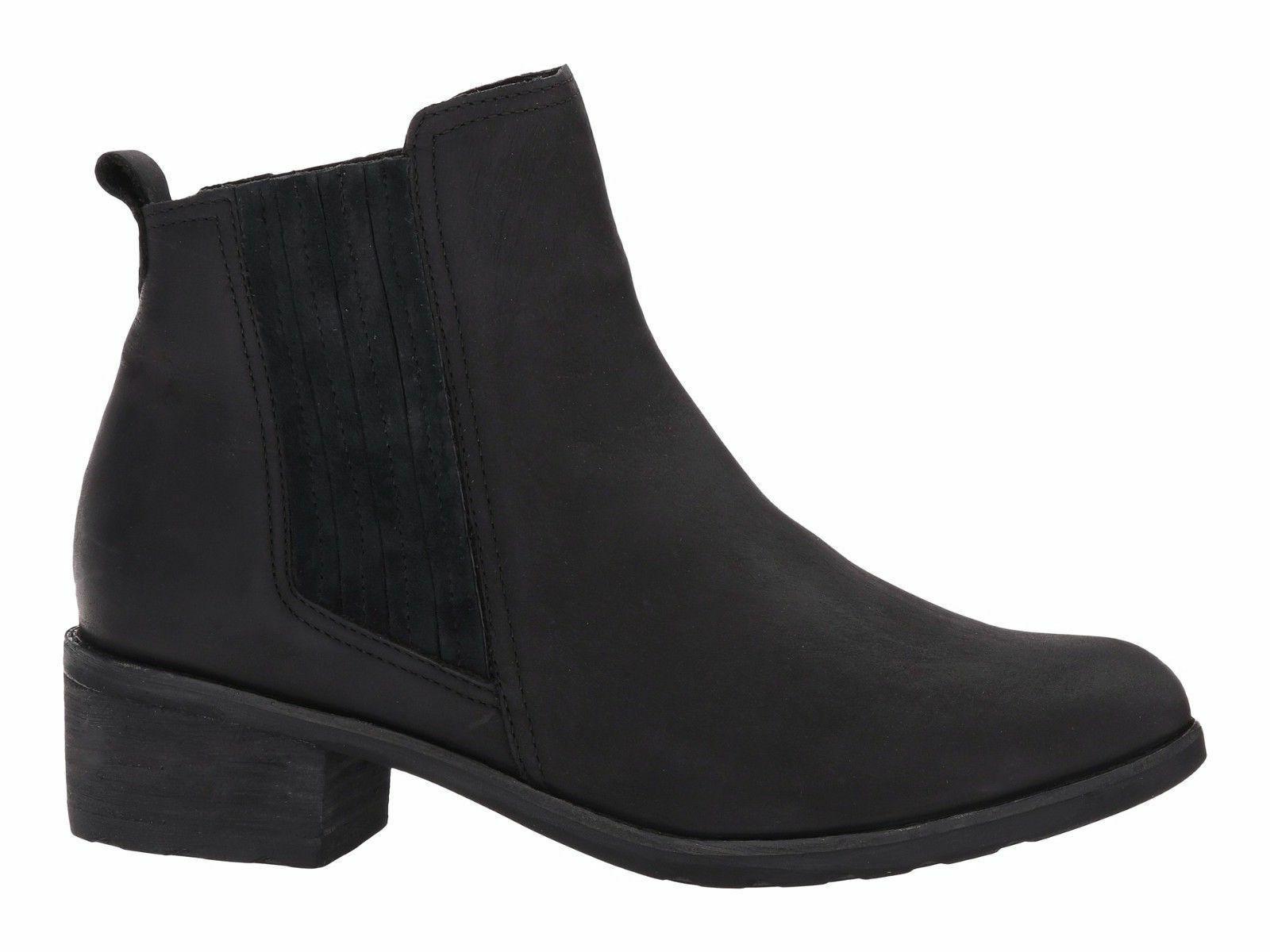 Reef Voyage Boot Black  Women's Suede Ankle Chelsea Bootie R