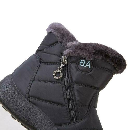 Waterproof Winter Women Shoes Snow Boots Fur-lined On Warm US