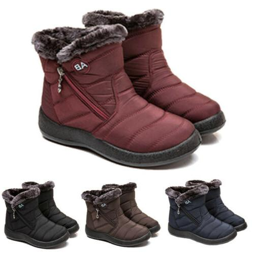 waterproof winter women shoes snow boots fur