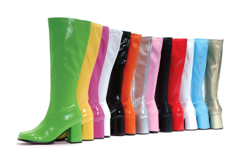 White Gogo Cheerleader Dance Band Uniform Parade Knee Boots