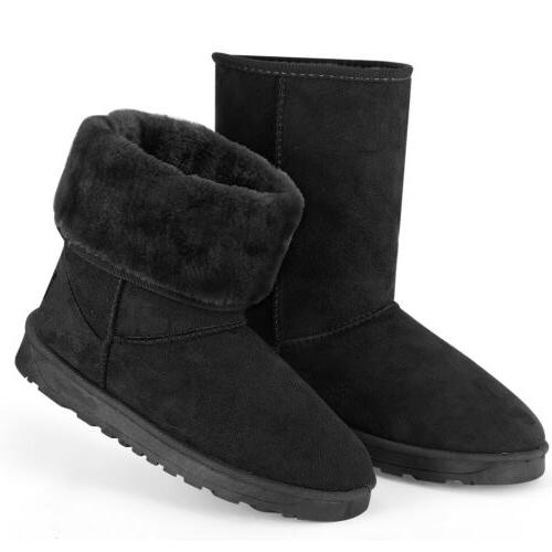 Faux Fur Mid-Calf Snow Plush 5-10 US