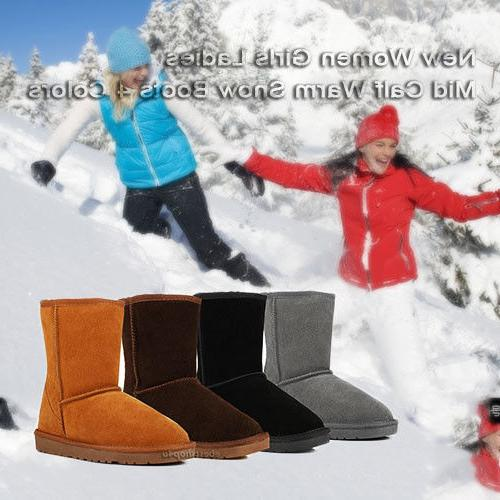 Winter Boots Faux Fur Suede 4 Colors