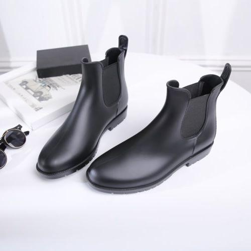 Neutral Ankel Chelsea Boots Short Rain Boots Waterproof Slip