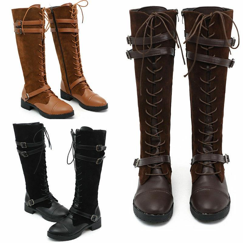 Women Boots Ladies The Knee High Stretch Calf