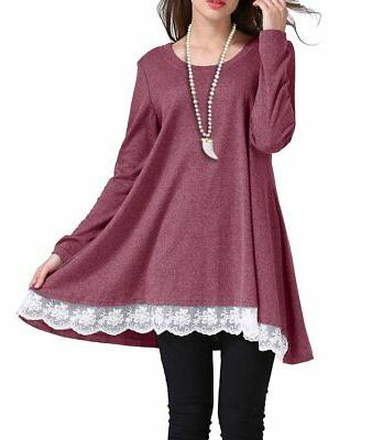 Sanifer Women Long Sleeve Tunic Top