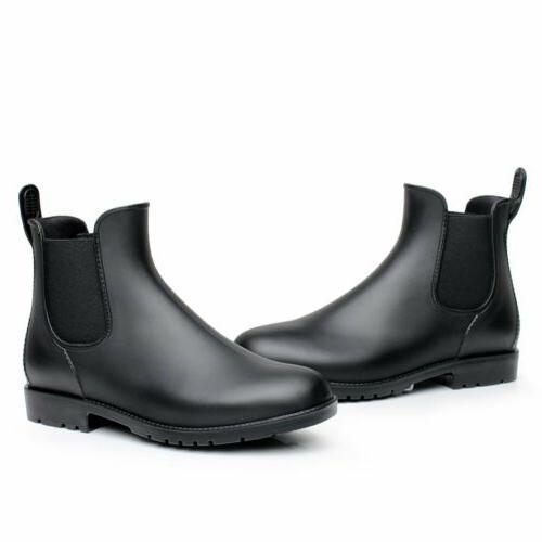 women man neutral short rain boots waterproof