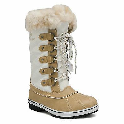 DREAM PAIRS Womens Snow Boots Mid Hiking Snow Rain Boots