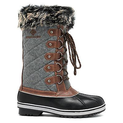 DREAM PAIRS Boots Hiking Snow Boots