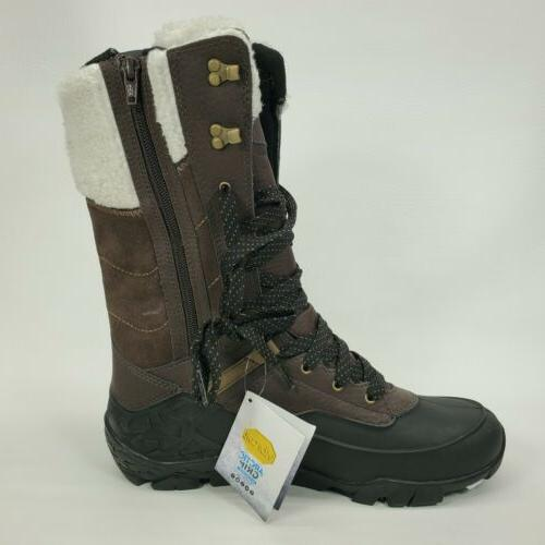 MERRELL Ice+ Waterproof Leather Size 8.5 Brown Snow