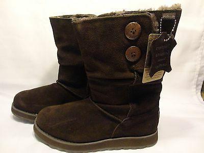 Women's Skechers Australia Warm Cozy Gray Suede Boots Size 6
