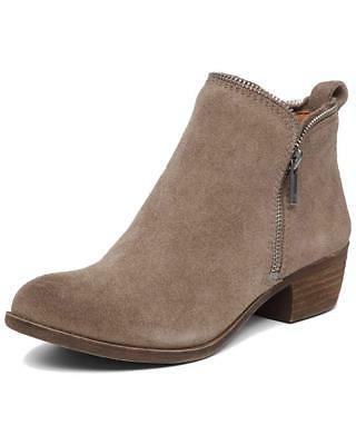 Lucky Brand Women's Bartalino Dual Side Zip Leather Ankle Bo
