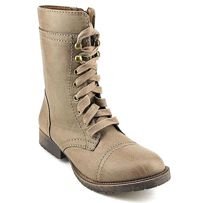 Rampage Women's Boots Jeliana Combat Military Boots Taupe 7,