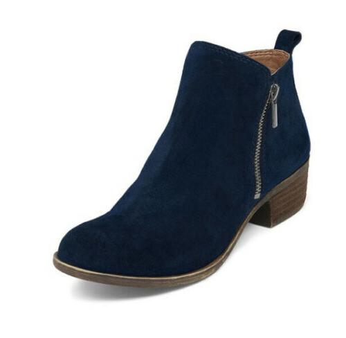 Women's Booties Low Heels Ankle Boots Round Up Shoes
