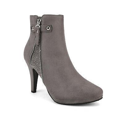 DREAM Womens Ankle Stiletto Heels Booties