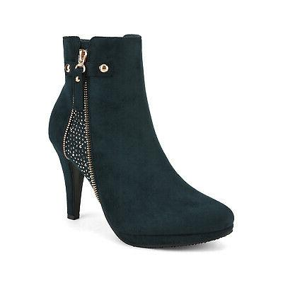 DREAM Womens Fashion Ankle Boots High Heels Booties