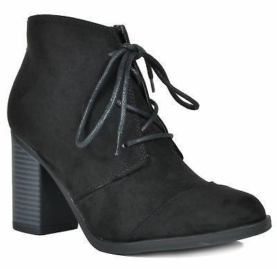 TOETOS Women Chicago Fashion Dress Chunky Lace-Up High Heel