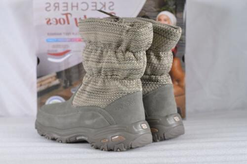 Women's Skechers D'Lites-Star Boots Taupe