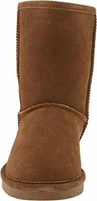 Bearpaw Women's Hickory/Champagne Short Fur Snow Boot