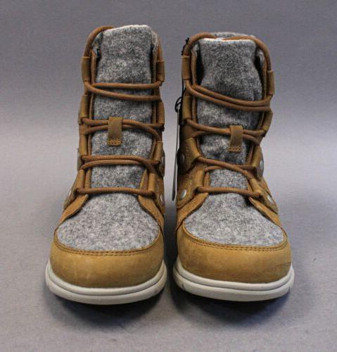 Sorel Explorer Joan Waterproof Winter Boots Camel