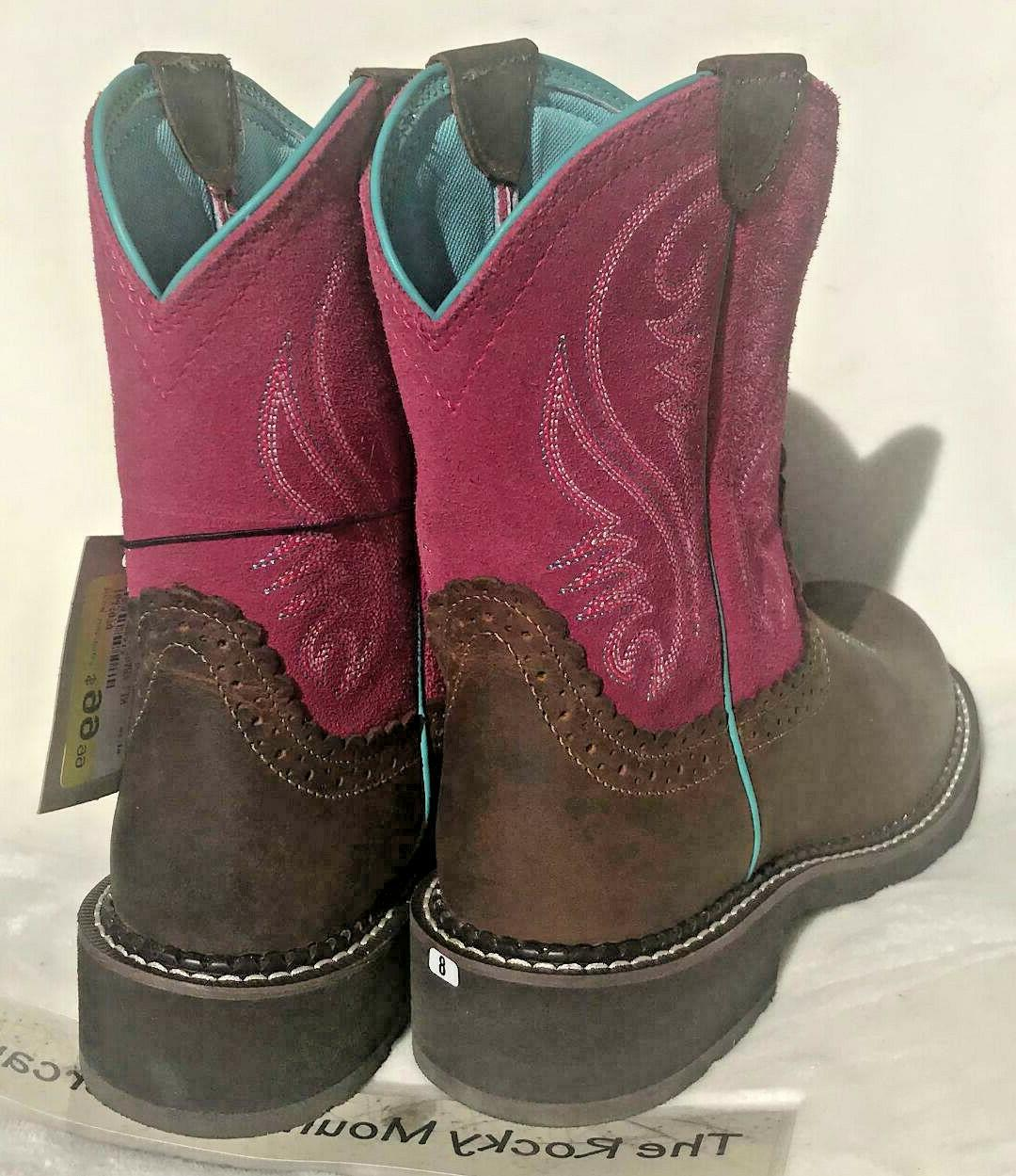 Boots Western/riding boot BROWN/PINK sizes