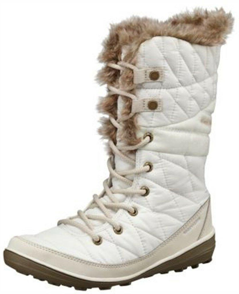 Columbia Women's Heavenly Omni-Heat Lace Up Winter Boots Whi
