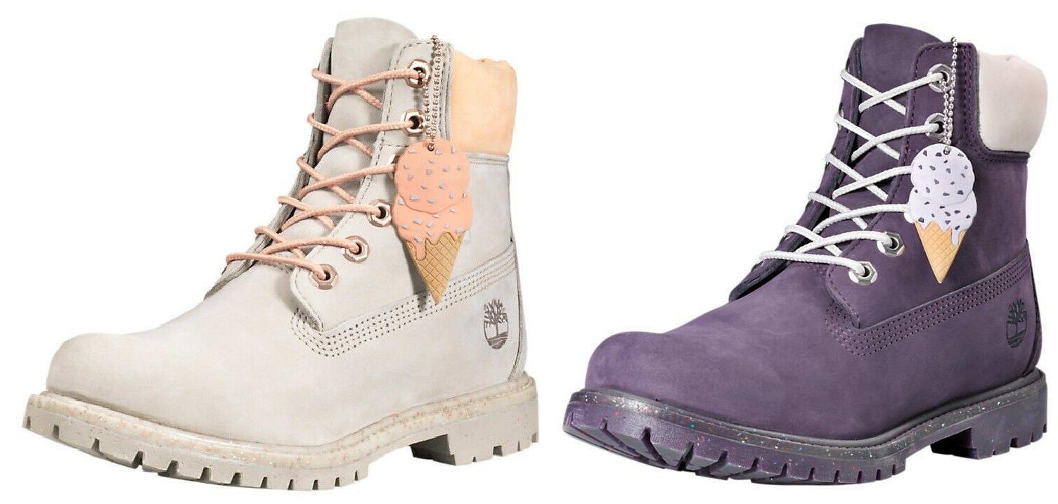 Timberland Women's Ice Cream Collection Waterproof Premium Boots Purple Gray   eBay