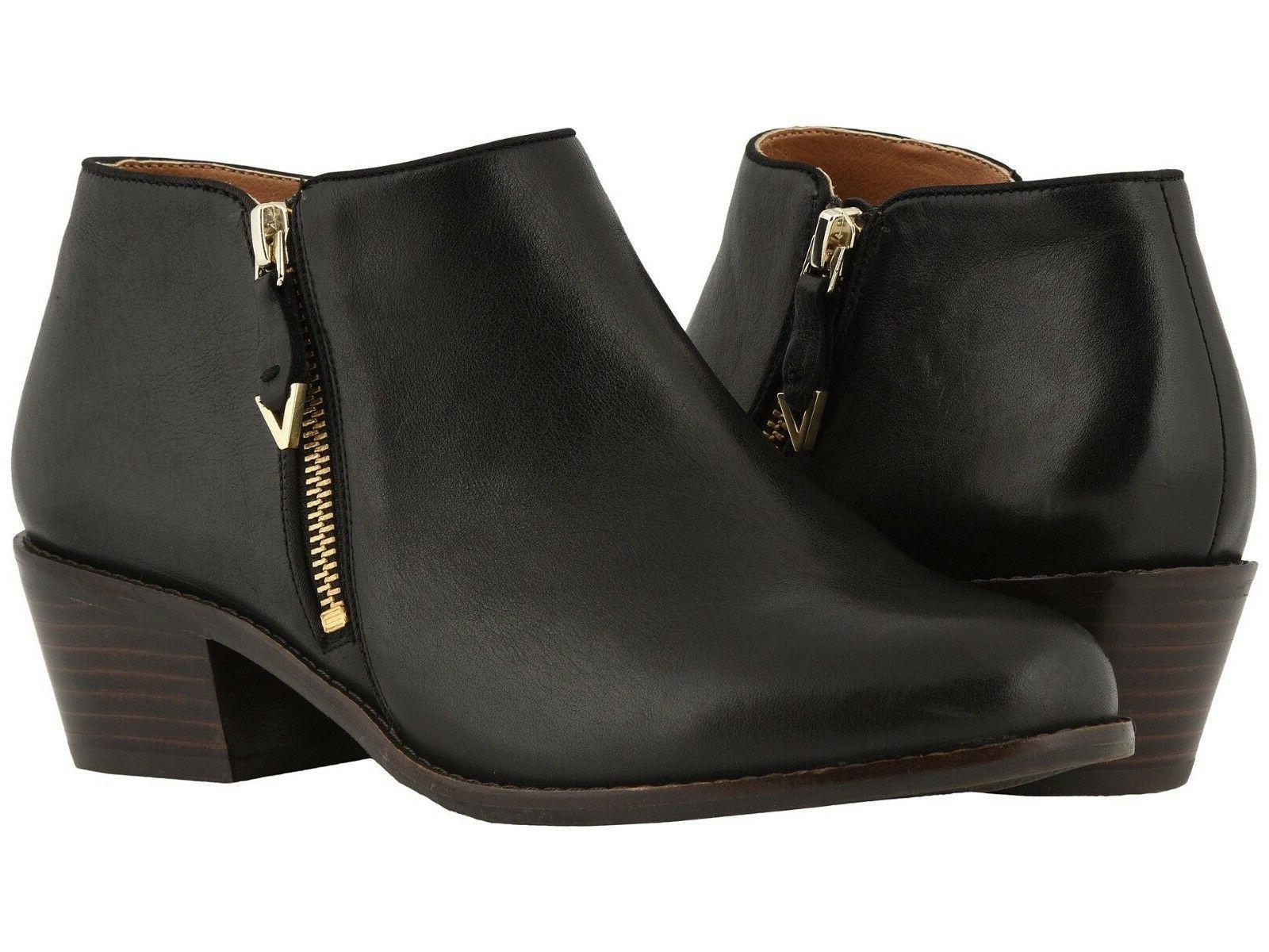 Women's Vionic Jolene Leather Ankle Booties Black US Sizes