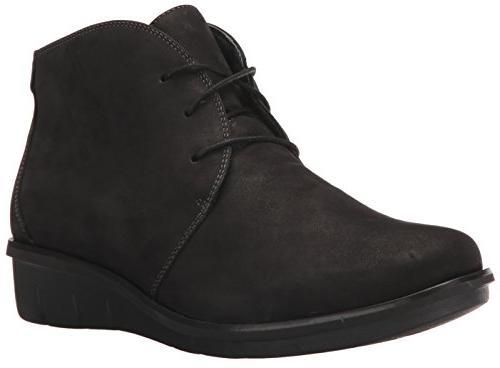 women s joy ankle bootie black nubuck