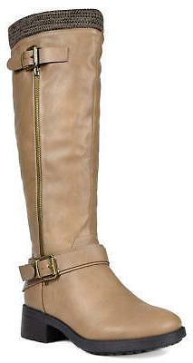 DREAM PAIRS Women's Low Heel lKnee High Riding Boots Zipper
