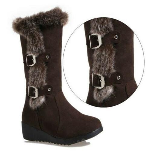 Snow Boots Fur Winter Calf