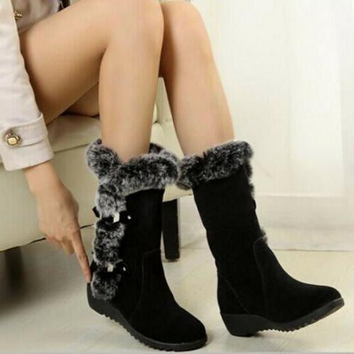 Women's Ladies Snow Boots Winter Calf Shoes