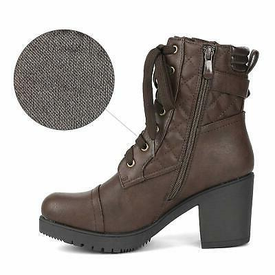 DREAM PAIRS Chunky Boots Combat