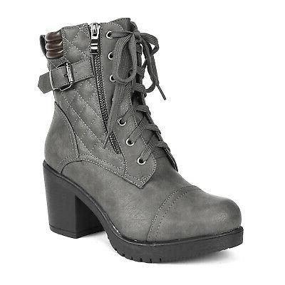 DREAM Chunky Boots Lace Up Combat