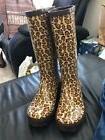 Women's Crocs Leopard Print Rain Boot Size 9 New!!!