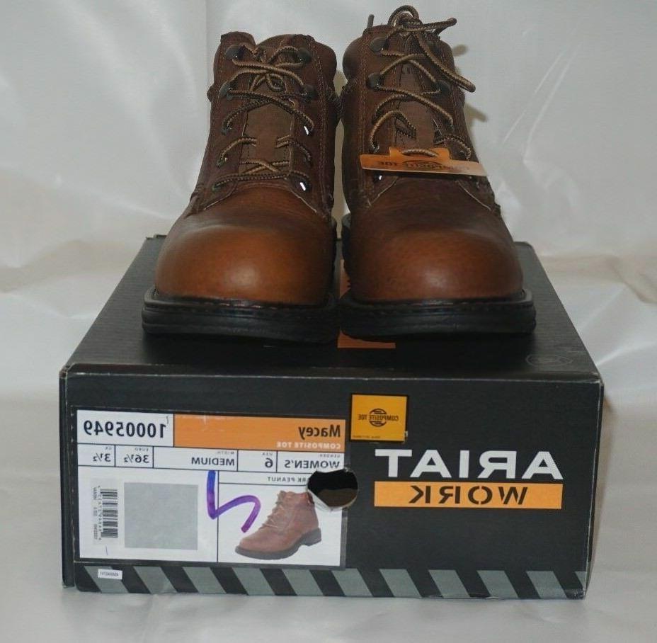 ARIAT Women's Macey Composite Toe Work Boot - Size US 6