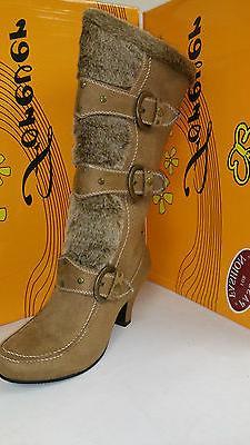 Women's Forever Link Maggie 78 High Camel Boots Multiple Siz
