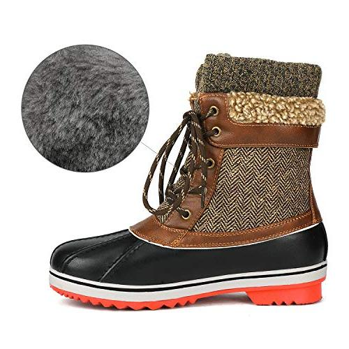 DREAM PAIRS Brown Mid Snow Boots Size M