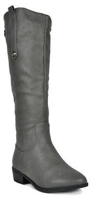 DREAM PAIRS Women's New-Luccia Side zipper Knee High Boots