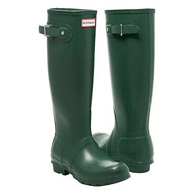Hunter Women's Original Tall Rain Boots Dark Slate Size 8 Us