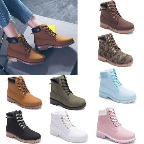 Women's Outdoor Martin Ankle Boots Winter Waterproof Work Ca